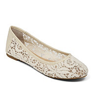 "Lucky Brand® ""Eartha"" Flats with Lace Detailing"