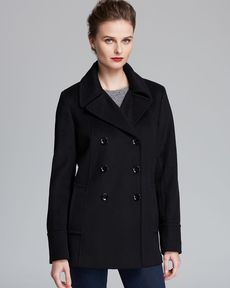 Calvin Klein Coat - Button Down Side Pockets