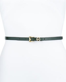 MICHAEL Michael Kors 13mm Leather Logo Belt