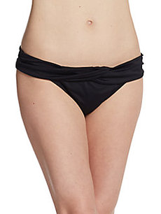 Carmen Marc Valvo Swimwear Twisted Bikini Bottom