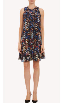 "Proenza Schouler ""Protest Collage""-Print Silk Sleeveless Dress"