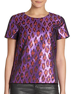 French Connection Disco Leopard-Print Top