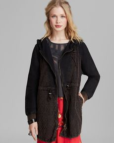 Free People Anorak - Washed Eyelet