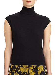 Michael Kors Cashmere & Silk Turtleneck Top