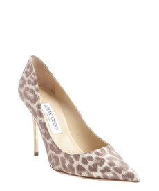 Jimmy Choo leopard print and gold finish 'Abel' pointed toe pumps