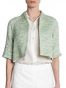 Teri Jon Cropped Tweed Jacket