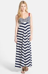 Lucky Brand Chevron Stripe Maxi Dress