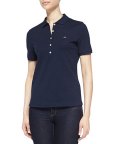 Escada Short-Sleeve Polo, Navy
