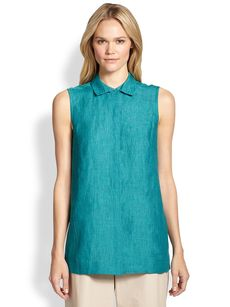 Lafayette 148 New York Sleeveless Linen Top