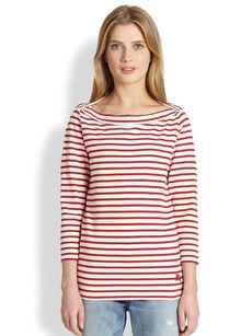 Burberry Brit Striped Boatneck Top