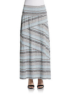 Max Studio Striped Maxi Skirt