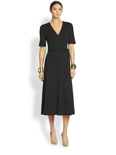 St. John Milano Knit Wrap Dress