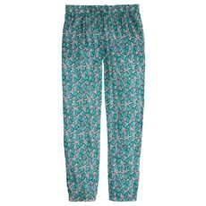 Drapey beach pant in leaf print