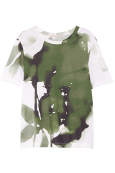 Jason Wu Printed cotton-blend jersey T-shirt