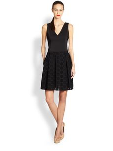 Akris Punto V-Neck Combo Dress