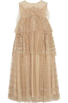 Chloé Embellished tulle dress