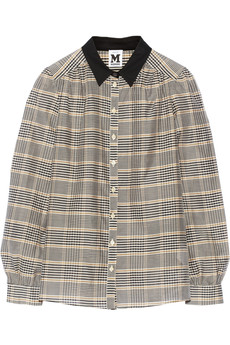 M Missoni Plaid cotton and silk-blend shirt