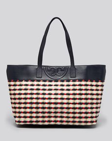 Tory Burch Tote - Soft Straw Multi East West