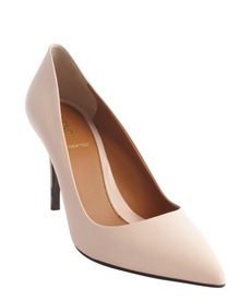 Fendi classic powder pink leather pointed toe pumps