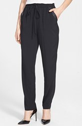 kensie Lightweight Stretch Crepe Crop Pants