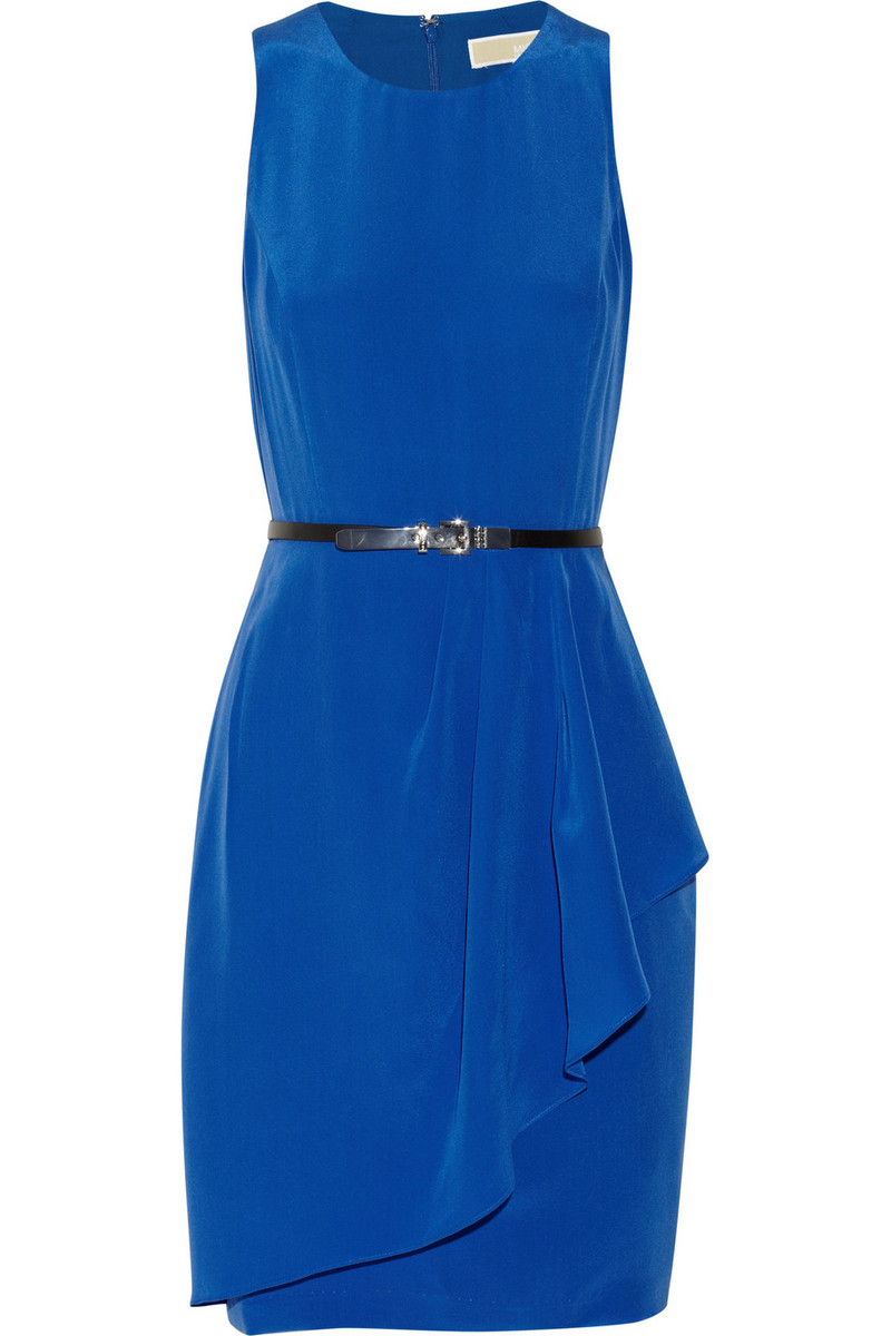 MICHAEL Michael Kors Belted silk dress