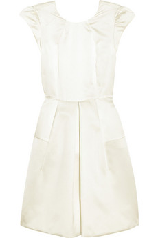 Miu Miu Pleated silk-faille dress