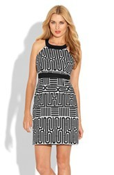 Laundry by Shelli Segal Geo Print Sheath Dress