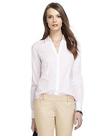 Non-Iron Fitted Thin Stripe Dress Shirt