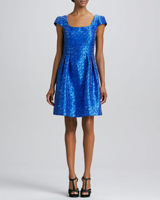 Kay Unger New York Jacquard Cocktail Dress