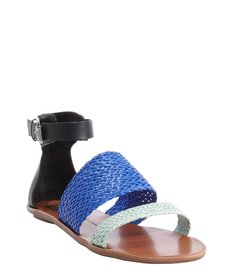 DV by Dolce Vita black and blue and seafoam leather 'Viera' sandals