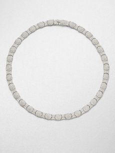 Adriana Orsini Crystal Oval Motif Collar Necklace