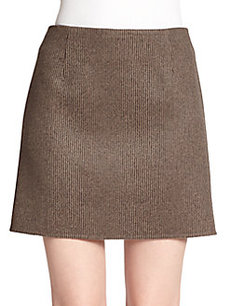 Marc Jacobs Striped Wool Mini Skirt