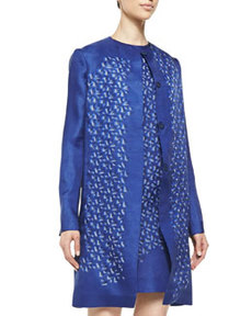 Kaleidoscope Organza Jacket, Blue   Kaleidoscope Organza Jacket, Blue