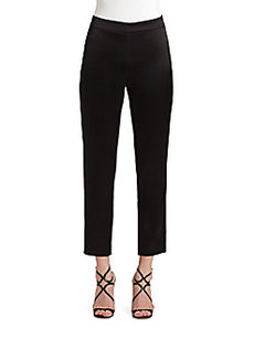 St. John Cropped Liquid Satin Pants