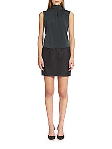 Brunello Cucinelli Silk Combo Dress