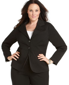 Charter Club Plus Size Two-Button Blazer