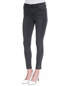J Brand Jeans Bree Skinny Cropped Jeans, Night Bird Black
