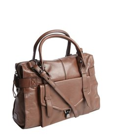 Kooba chocolate brown leather 'Kendal' top handle bag