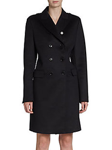 Burberry London Wildcroft Cashmere Double-Breasted Coat