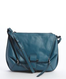 Kooba denim blue 'Leroy' leather crossbody bag