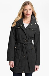 Ellen Tracy Fly Front Trench Coat (Petite) (Online Only)
