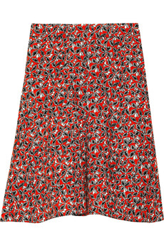 Marni Printed stretch flax-blend skirt
