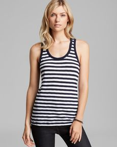 rag & bone/JEAN Tank - The Classic Beater Striped
