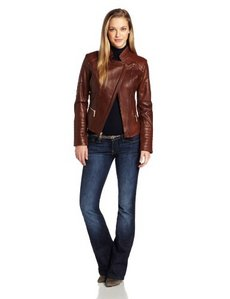 Kenneth Cole New York Women's Hipster Leather Jacket