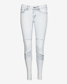 rag & bone/JEAN EXCLUSIVE Moto Panel Bleached Skinny