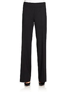 Lafayette 148 New York Stretch Wool Wide-Leg Trousers