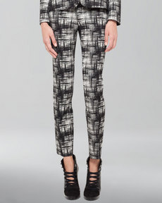 Akris punto Franca Crosshatch-Print Pants