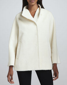 Cinzia Rocca Side-Slit Car Coat