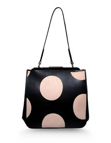 MARNI Sueded No appliqués Polka dots Framed closure Handbags Medium not made of fur