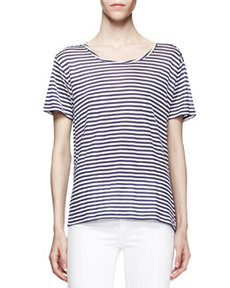 Dekker Striped Silk Tee   Dekker Striped Silk Tee
